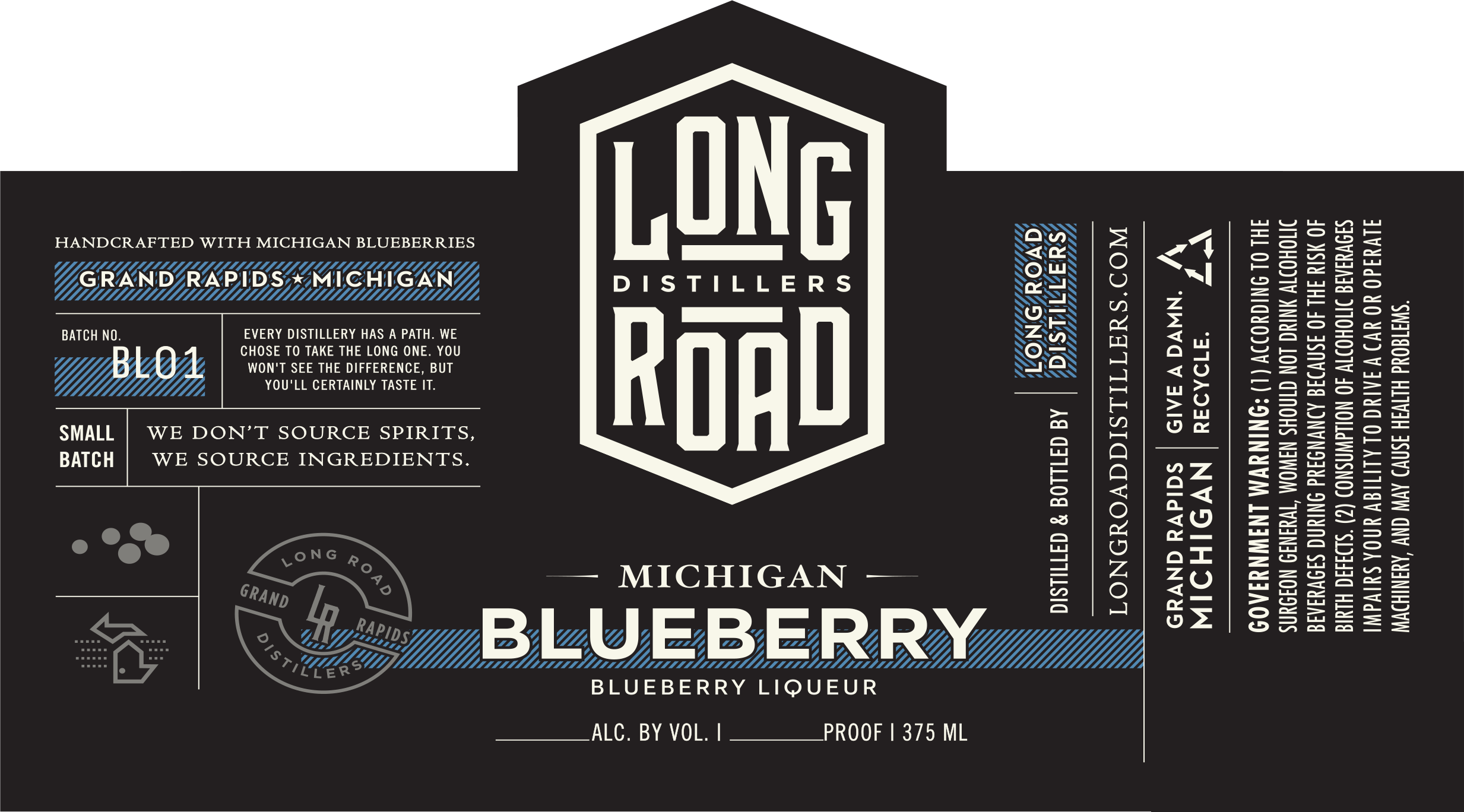 Blueberry Liqueur Long Road Distillers