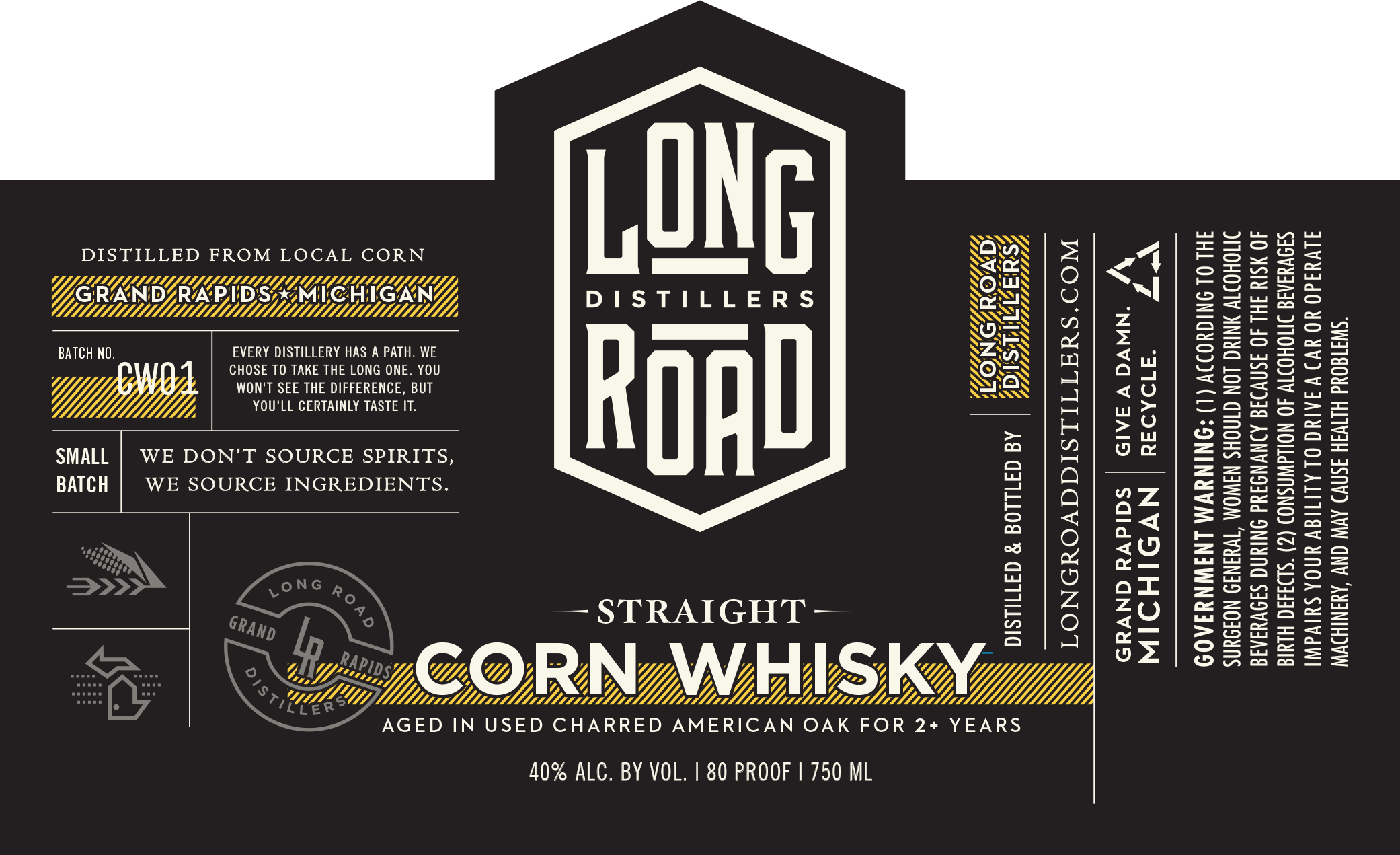 Corn Whisky Long Road Distillers