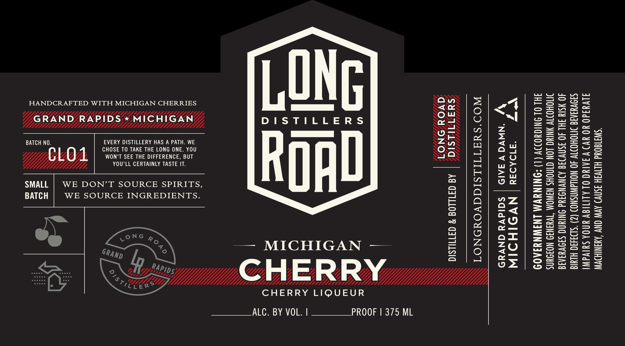 Michigan Cherry Liqueur Long Road Distillers