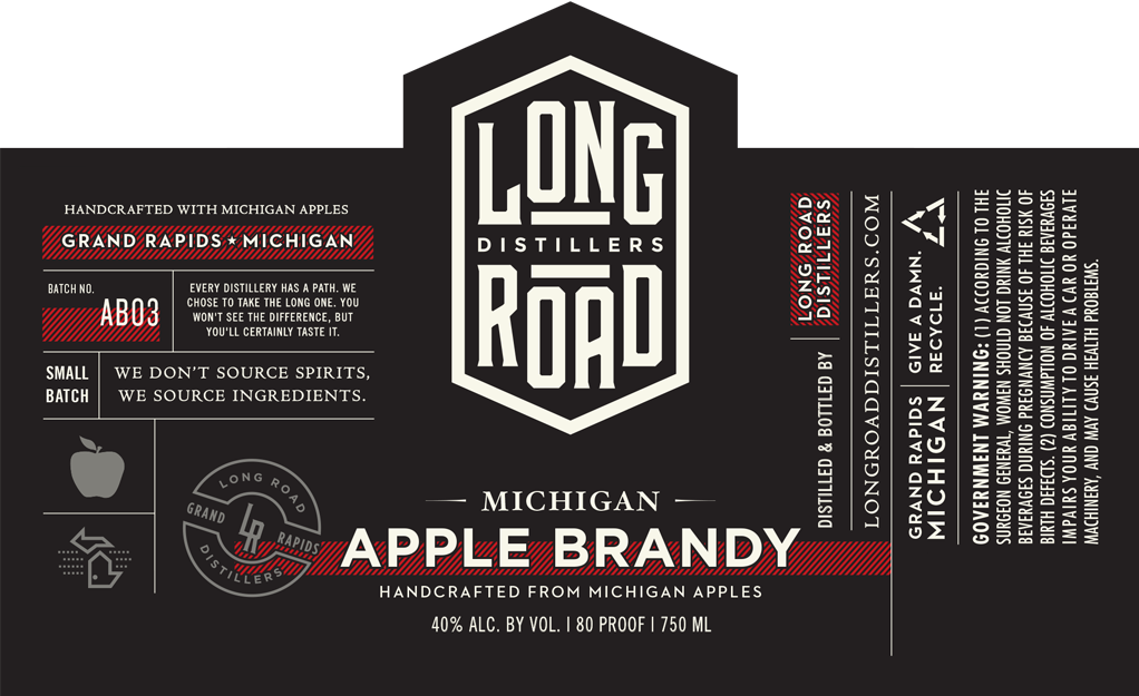 Michigan Apple Brandy Long Road Distillers