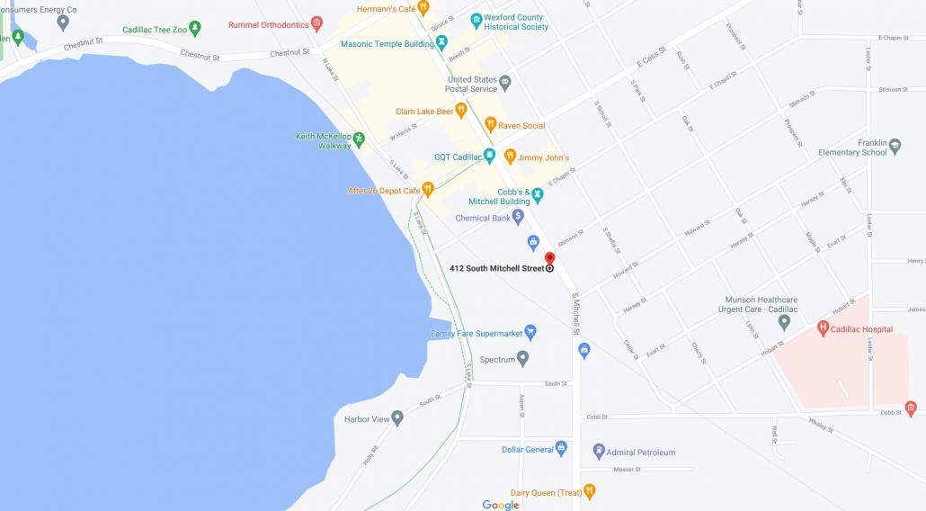 LRD Cadillac Map